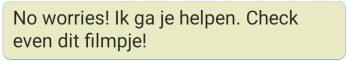 WhatsApp zangles statement ik ga je helpen