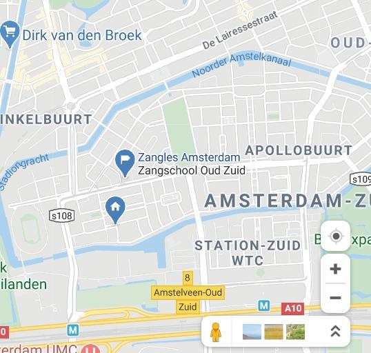 Zangles Amsterdam Locatie adres Herculesstraat 133 Amsterdam